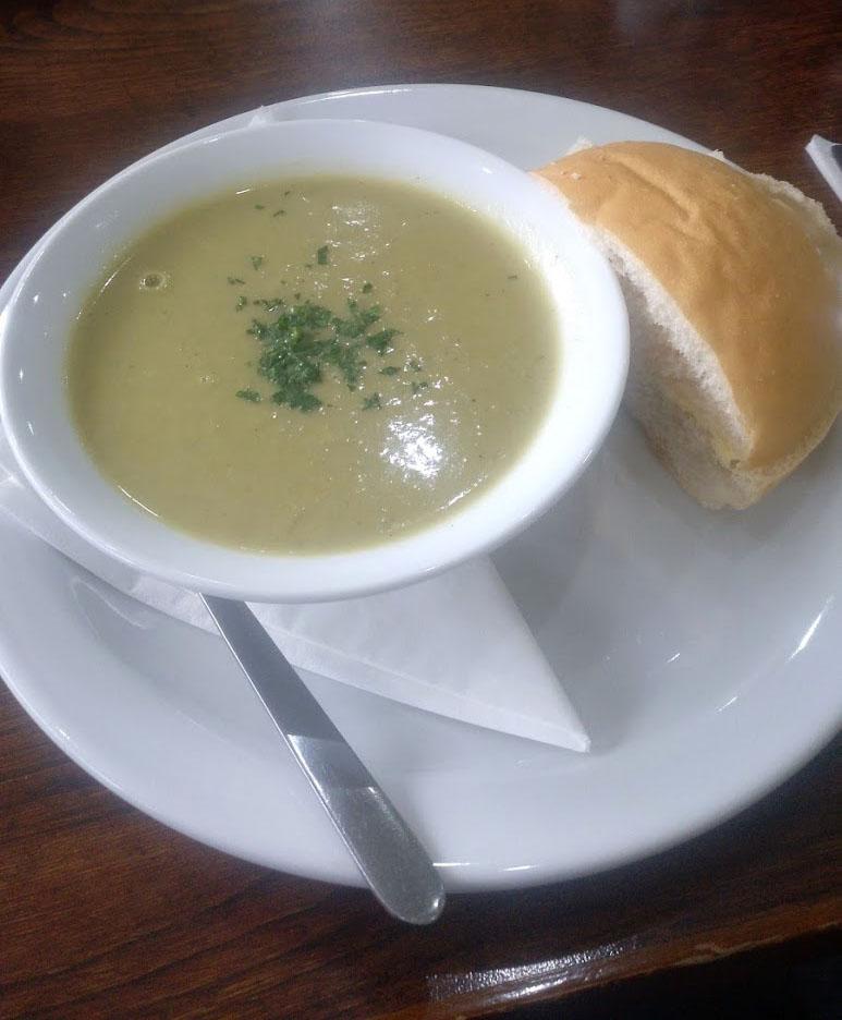 delicious green soup bowl Edinburgh weekend