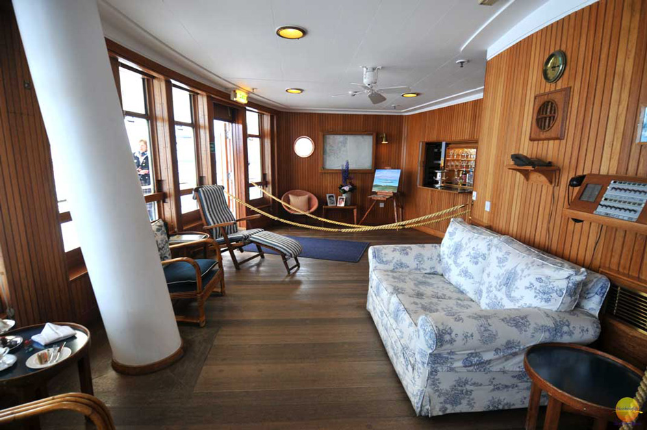 The Drawing room of the Royal yacht Brittania