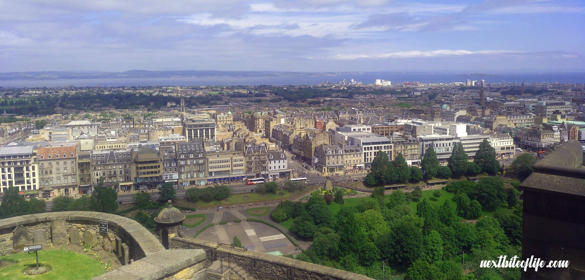 View from Edinburgh castle in our weekend guide to Edinburgh