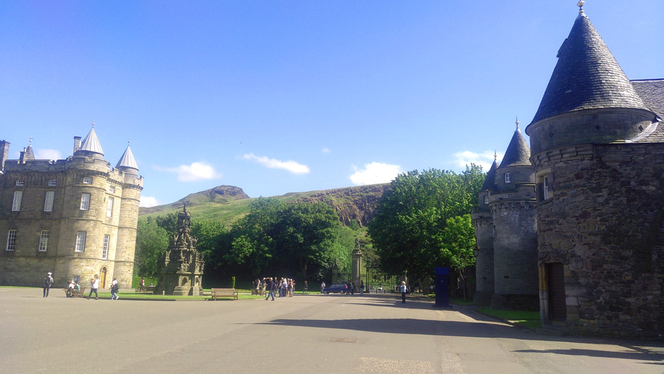 View of Arthur's seat from Hollyrood