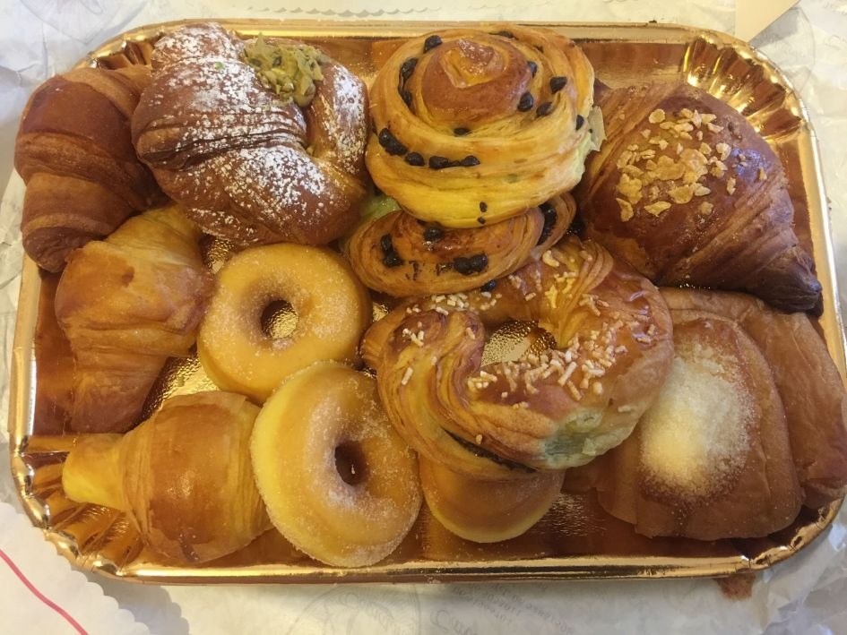 tray of pastries for breakfast - Rome in the fall