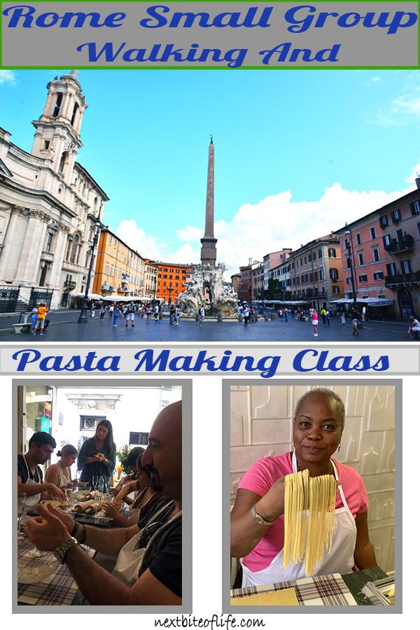 Walking tour and pasta making class Rome #rome #walkingtourrome #visitrome #visititaly #italianfood #freshpasta #romanfood