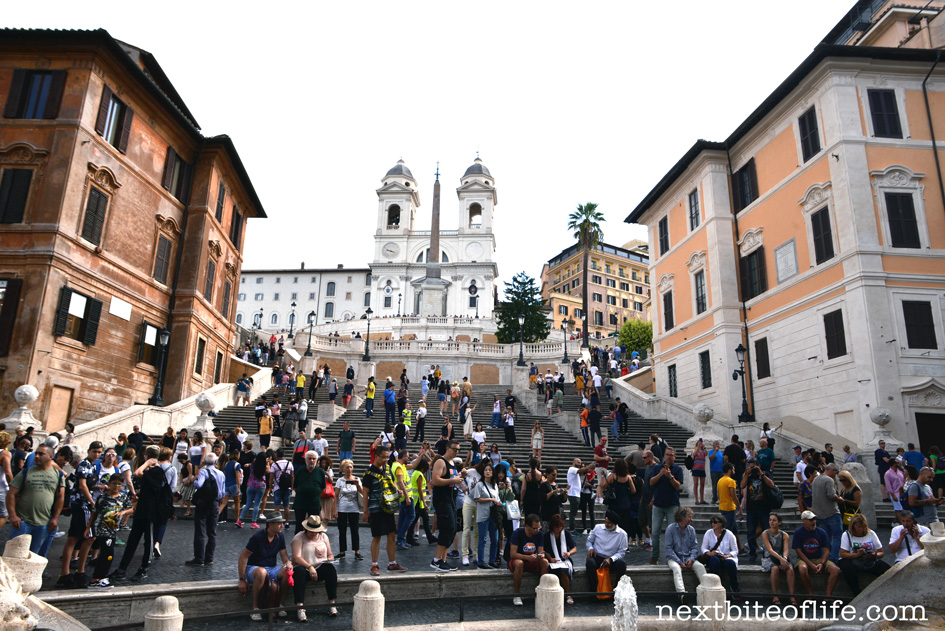 Spanish steps in Rome with people