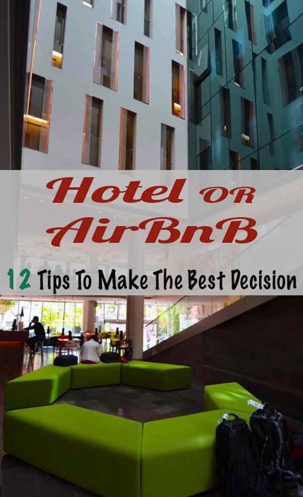 AirBnB vs Hotel tips #airbnb #airbnbvshotel #hotelbetterthanairbnb #travel #traveltips #lodgintips