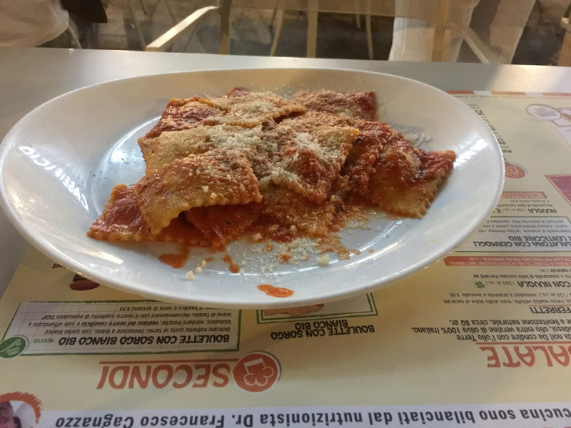 ravioli with ragu plate in Perugia highlights of 48 hours in Umbria