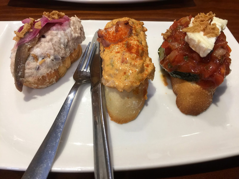 pintxos plate - part of the magnificent best gems of Bilbao