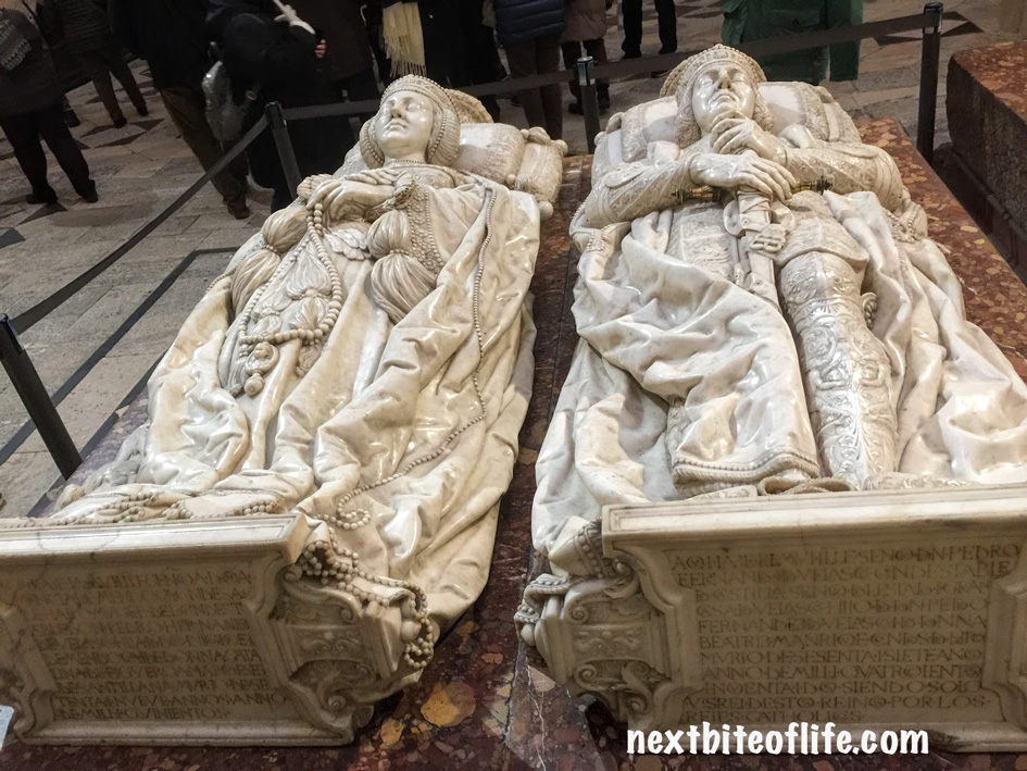 wife and husband in ivory at cathedral