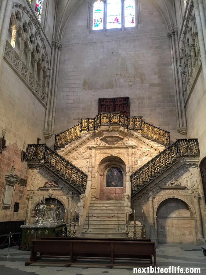stairs inside the burgos cathedral