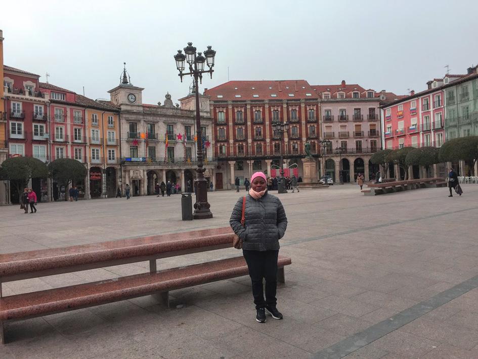 black female at plaza mayor