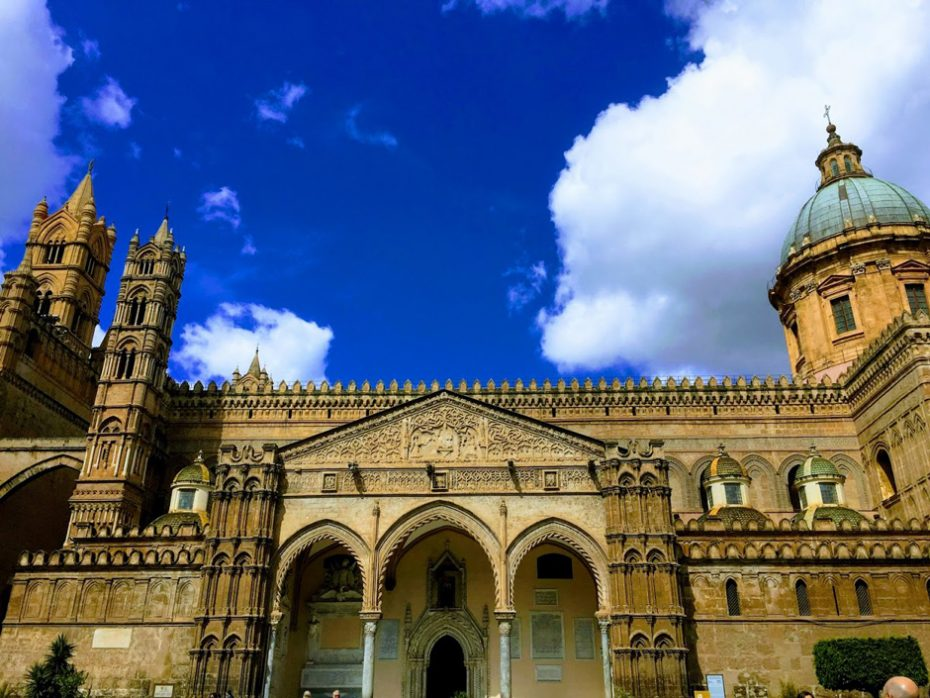 palermo cathedral. Coronavirus Update And Quarantine Lockdown