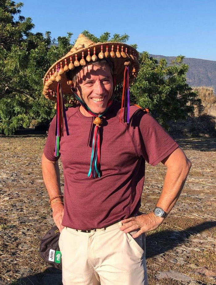 Lockdown in Australia with Glenn seen here in Mexican sombrero in Mexico