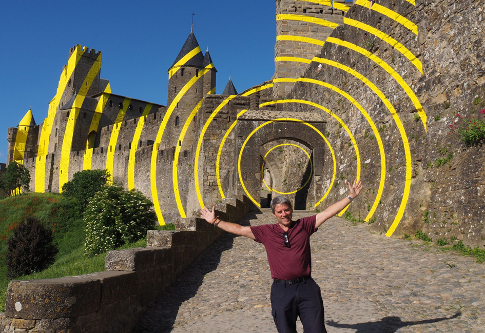Glenn with arms outstretched in Mexico