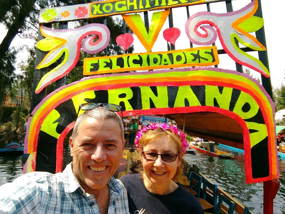 Glenn and wife in Mexico