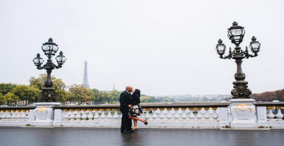 Lockdown and life stories with dr Nadeen posing with hubby with eiffel tower backdrop
