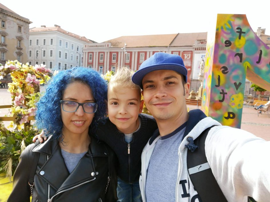 Calin, wife and son in Valencia
