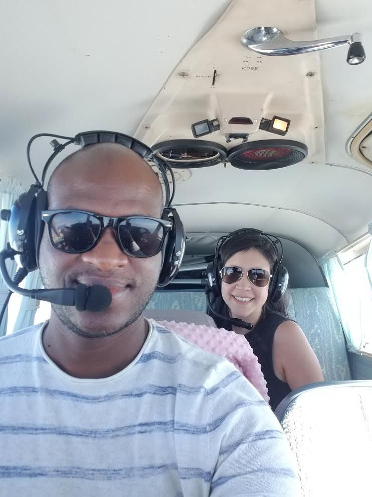 pilot and girlfriend in rear. Living the ENTP life