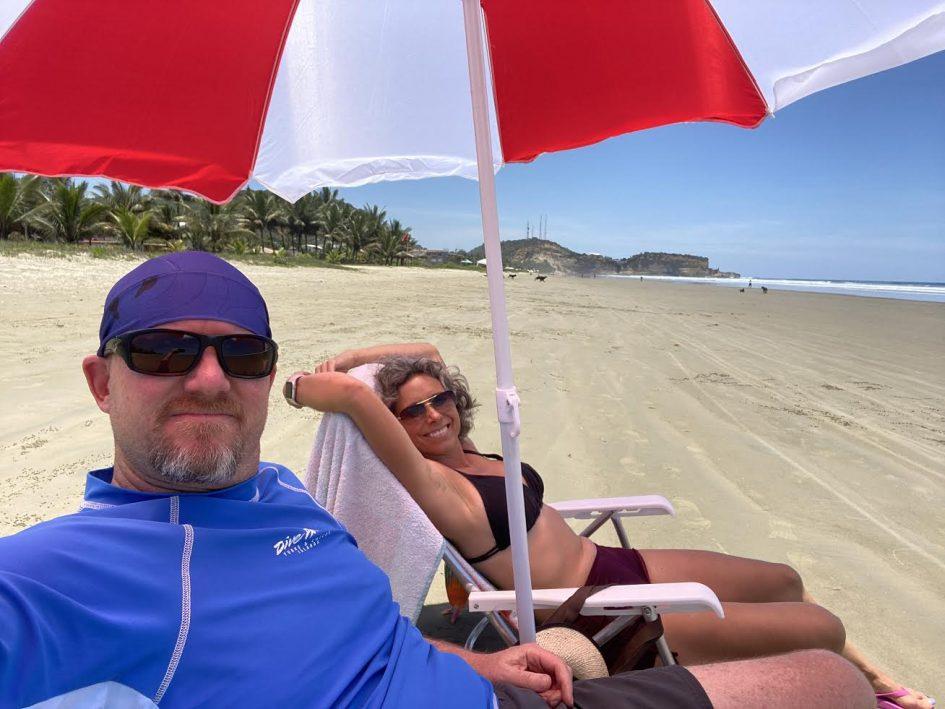 living and loving the beach life in Ecuador